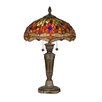 "Dale Tiffany Pearce Dragonfly 24.75"" Table Lamp with Bowl Shade"