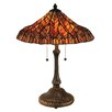 "Dale Tiffany Lotus 24"" H Table Lamp with Empire Shade"