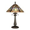 "<strong>Dale Tiffany</strong> Floral Branch Tiffany 26"" H Table Lamp with Empire Shade"