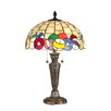 """<strong>Dale Tiffany</strong> Billiards 25"""" H Table Lamp with Bowl Shade"""