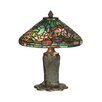 "<strong>Dale Tiffany</strong> Floral Leaf Tiffany 12"" H Table Lamp with Empire Shade"