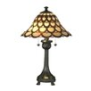 """Dale Tiffany Peacock 24"""" Table Lamp with Bell Shade"""