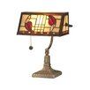 "Dale Tiffany Henderson Bankers 13.5"" H Table Lamp with Rectangular Shade"