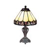 "<strong>Dale Tiffany</strong> Peacock Accent 13..5"" H Table Lamp with Empire Shade"