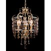 <strong>Dale Tiffany</strong> 3 Light Crystal Chandelier
