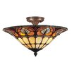 <strong>Dylan Tiffany 3 Light Flush Mount</strong> by Dale Tiffany