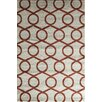 Rugs America Hudson Terracotta Links Area Rug
