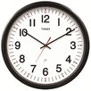 "Chaney AcuRite 14.5"" Timex 5-Year Set and Forget Wall Clock"