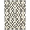 Nourison Linear Gray Ivory Rug