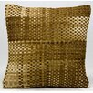 Nourison Natural Hide Basket Weave Hide Pillow