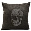 Nourison Luminescence Rhinestone Skull Pillow