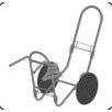 Vertex FoldAway Log Cart Frame with Never Flat Tires