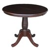 International Concepts Round Pedestal Dining Table