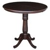 <strong>Round Pedestal Counter Height Pub Table</strong> by International Concepts