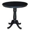 International Concepts Round Pedestal Counter Height Pub Table with Leaf