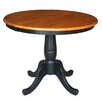 <strong>International Concepts</strong> Round Pedestal Dining Table
