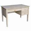 International Concepts Writing Desk with 3 Drawer