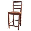 "Madrid 24"" Counter Height Stool in Cinnamon / Espresso"
