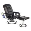 Comfort Products Leisure Heated Reclining Massage Chair with Ottoman