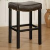 "<strong>Armen Living</strong> Tudor 26"" Backless Leather Barstool"