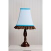 Pam's Blue Petals Lamp in Chocolate
