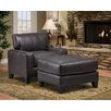 Carolina Accents Lasalle Arm Chair and Ottoman