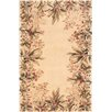 KAS Oriental Rugs Emerald Ivory Tropical Border Rug