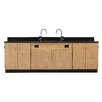 Diversified Woodcrafts Wall Service Bench With Door