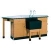<strong>Labview 4 Student Workstation With Door/ Drawer</strong> by Diversified Woodcrafts