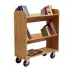 <strong>Diversified Woodcrafts</strong> Solid Oak Book Truck With 2 Sloped & 1 Flat Shelf