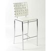 Carlsen Counter Chair in White  (Set of 2)