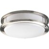 <strong>Progress Lighting</strong> Close-to-Ceiling Flush Mount in Brushed Nickel