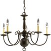 Americana 5 Light Candle Chandelier