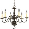 Progress Lighting Americana 6 Light Candle Chandelier