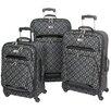 Geoffrey Beene Hearts 3 Piece International Carry-On Spinner Suitcase Set