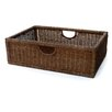 <strong>Dark Wicker Night Stand Basket</strong> by OIA