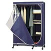 <strong>OIA</strong> Wardrobe Storage Armoire in Navy with White Trim