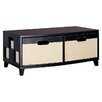 <strong>Jute Two Drawer Chest in Dark Brown and Linen</strong> by OIA
