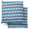 <strong>Ikat Taylor Diamond Cotton Decorative Pillow (Set of 2)</strong> by Safavieh