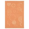 <strong>Courtyard Terracotta/Natural Circle Outdoor Rug</strong> by Safavieh