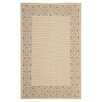 <strong>Safavieh</strong> Courtyard Cream/Light Chocolate Floral Indoor/Outdoor Rug