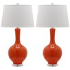 "Safavieh Blanche Gourd 32"" H Table Lamp with Empire Shade (Set of 2)"