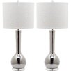 "Safavieh Mae Long Neck 30.5"" H Table Lamp with Drum Shade (Set of 2)"