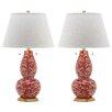 "Safavieh Swirls 32"" H Table Lamp with Empire Shade (Set of 2)"