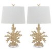 """Safavieh Coral Branch 28"""" H Table Lamp with Drum Shade (Set of 2)"""