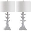 "Safavieh Styx 29"" H Table Lamp with Drum Shade (Set of 2)"
