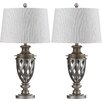 "Safavieh Byron Urn 28.5"" H Table Lamp with Drum Shade (Set of 2)"