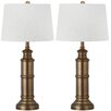 "Safavieh Mariner 30.5"" H Table Lamp with Bell Shade (Set of 2)"