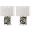 """Safavieh Thatcher 21.5"""" H Table Lamp with Rectangular Shade (Set of 2)"""