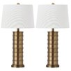 "Safavieh Linus 28.5"" H Table Lamp with Drum Shade (Set of 2)"